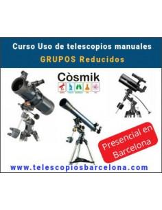 Uso de telescopios manuales. Grupos reducidos.