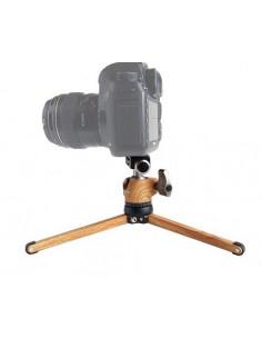 Kit Leofoto minitrípode MT-01 y rótula LH-25 color madera
